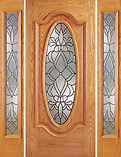 Z-Series Mahogany Full Oval Glass Doors