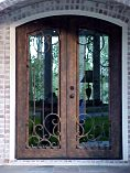 Arched Natural Double Doors