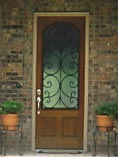 Single Wrought Iron Doors