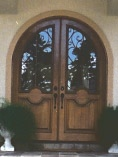 Wrought Iron Round Top Double Doors