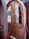 Double Rustic Round Iron Doors