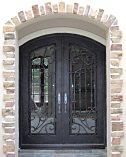 Arched Double Iron Doors