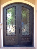 Hand Forged Arched Iron Doors