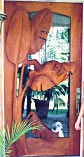 Palm Leaf Sculptured Doors