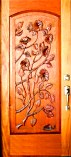 Sculptured Floral Single Doors