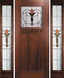 Arts Crafts Stained Glass Doors