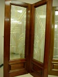 Beveled Glass Double Doors