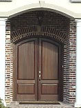Solid Wood Eyebrow Arched Doors