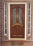 Deluxe Twin Leaded Glass Doors