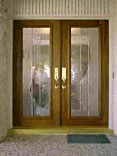 Double Leaded Glass Doors