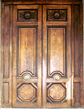 Double Carved Panel Doors