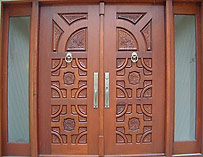 Mahogany Entry Double Doors