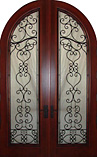 Heart Shaped Wrought Iron Round Doors