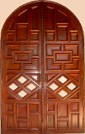 Geometric Shape Wood Doors