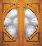Casted Glass UE-108-B Double Door