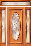 X-700 Single Panel Full Oval Glass Doors