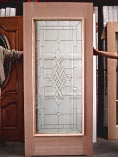 Single Glass Brass Design Doors