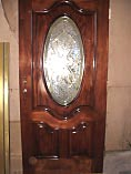 Dark Mahogany Oval Glass Doors