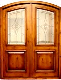 Glass Rustic Arch Doors