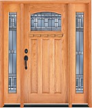 Craftsman Arch Oak Doors