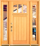 Douglas Fir Clear Glass Craftsman Entry Door