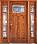 Bradbury Medium Oak Craftsman Doors