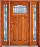 Southwestern Elkhart Craftsman Oak Entry Doors