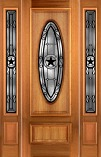 Mahogany 8 Foot Star Entry Doors