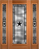 Custom TX Star Mahogany Entry Doors