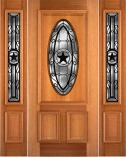 Custom Lone Star Style Mahogany Entry Doors