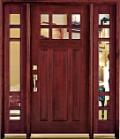 Dark Mahogany Clear French Doors