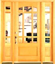 French Arch Entry Douglas Fir Doors