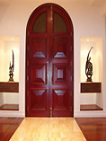 Luccall Top Arch Glass Doors