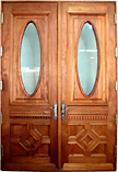 Provence Double Oval Glass Doors