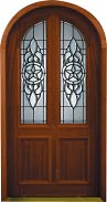 Beveled Glass Doors - Brazos Radius 42""