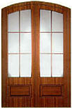 Eyebrow Arched French Doors