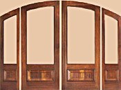 Three Quarter Arch Double Rustic Doors