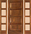 Mahogany 4 Panel Single Rustic Doors