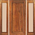 Single Panel Plank Rustic Doors