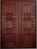 Rustic Double Panel Wood Nails Doors