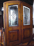 Distressed Finish Glass Rustic Doors