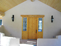 Single Rustic Door with Star Sidelites