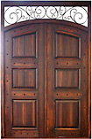 Clavos Planked Rustic Double Doors